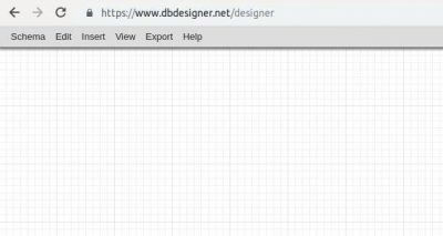 DB Designer Main Menu